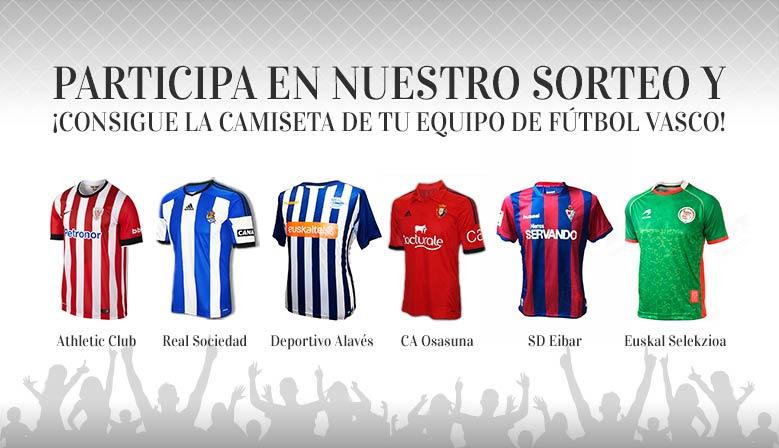 Camisetas equipos de fútbol vascos